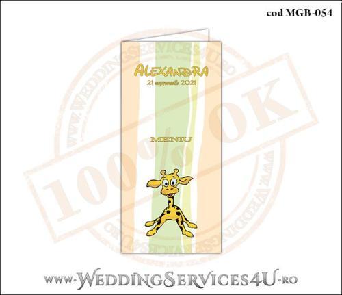 MGB-054 Meniu pentru Botez cu pui de girafa