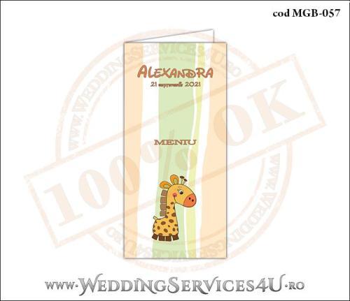 MGB-057 Meniu pentru Botez cu girafa