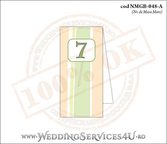 NMGB-048-A Numar de Masa pentru Botez cu dungi pastel