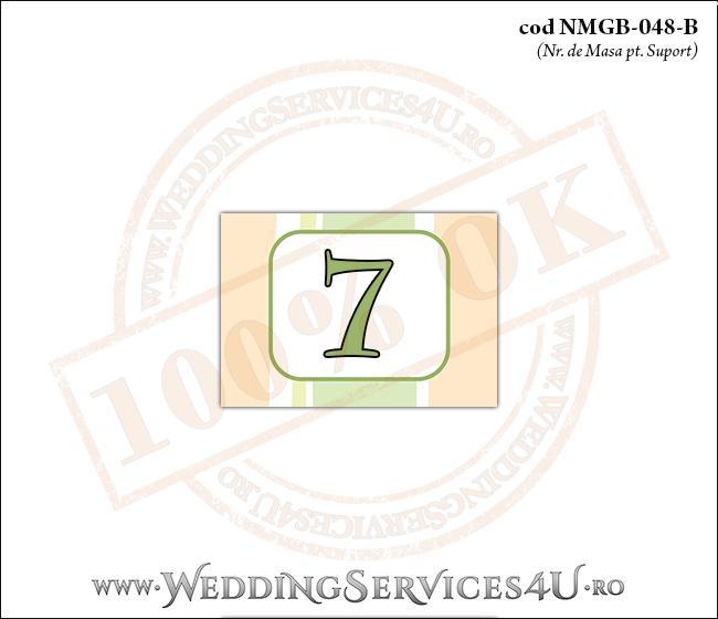 NMGB-048-B Numar de Masa pentru Botez cu dungi pastel