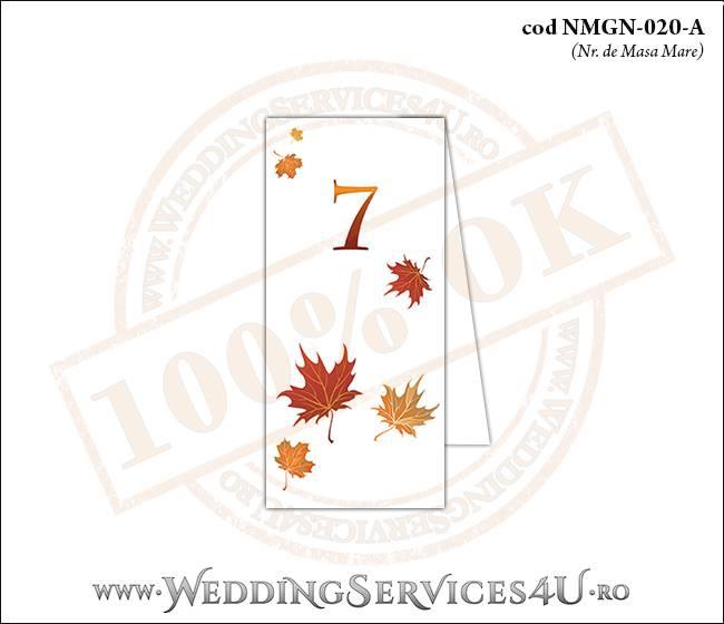 NMGN-020-A Numar de Masa pentru Nunta sau Botez cu tematica de toamna