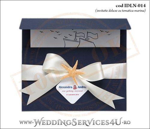 Invitatie_Deluxe_Nunta_IDLN-014-01-Tematica.Marina.cu.stea.de.mare.si.fundita