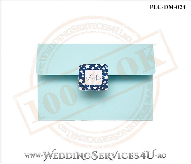 Plic Invitatie Nunta-Botez PLC-DM-024-1 Bleu