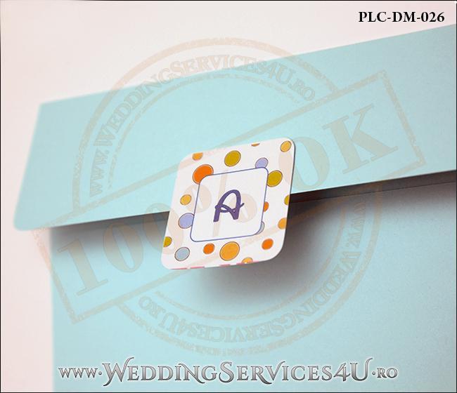 Plic Invitatie Nunta-Botez PLC-DM-026-2 Bleu