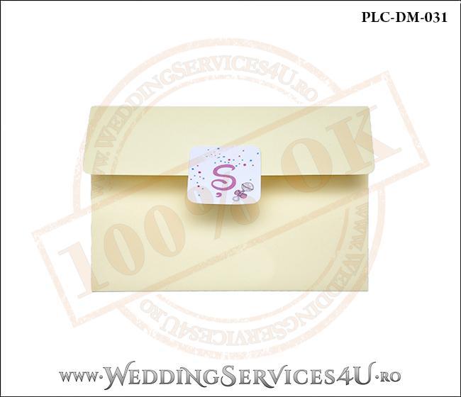 Plic Invitatie Nunta-Botez PLC-DM-031-1 Galben