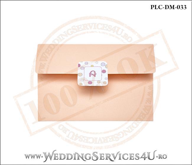 Plic Invitatie Nunta-Botez PLC-DM-033-1 Peach