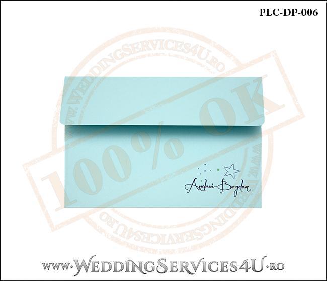 Plic Invitatie Nunta-Botez PLC-DP-006-1 Bleu