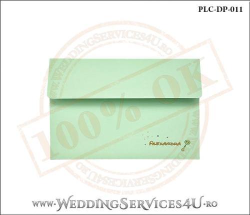 Plic Invitatie Nunta-Botez PLC-DP-011-1 Verde