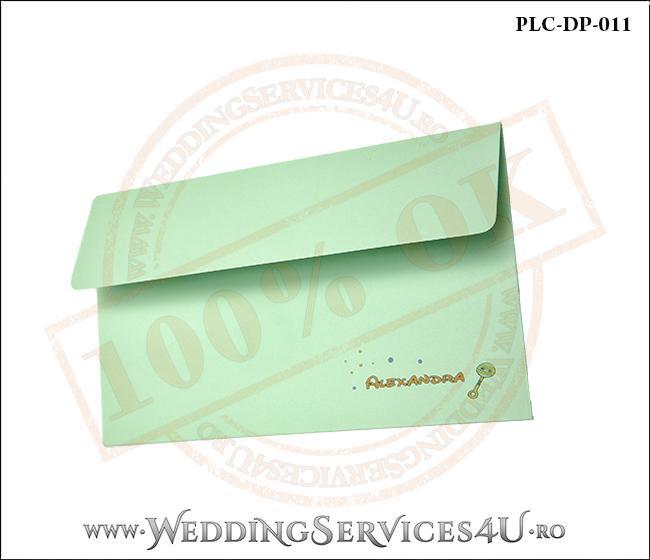 Plic Invitatie Nunta-Botez PLC-DP-011-2 Verde