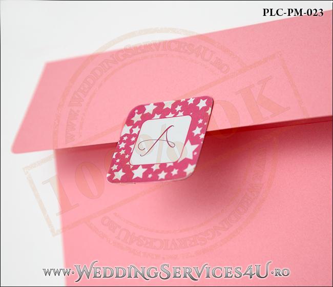 Plic Patrat Invitatie Nunta-Botez PLC-PM-023-2 Roz