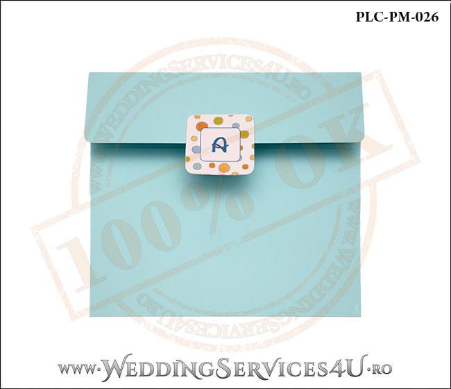 Plic Patrat Invitatie Nunta-Botez PLC-PM-026-1 Bleu
