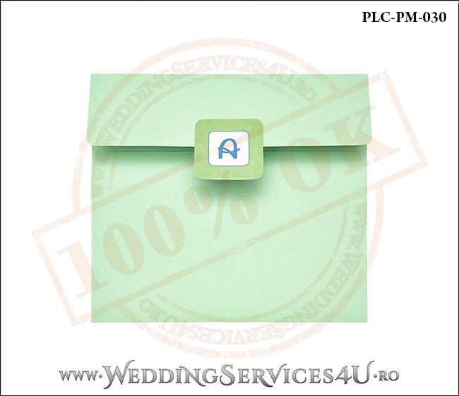 Plic Patrat Invitatie Nunta-Botez PLC-PM-030-1 Verde