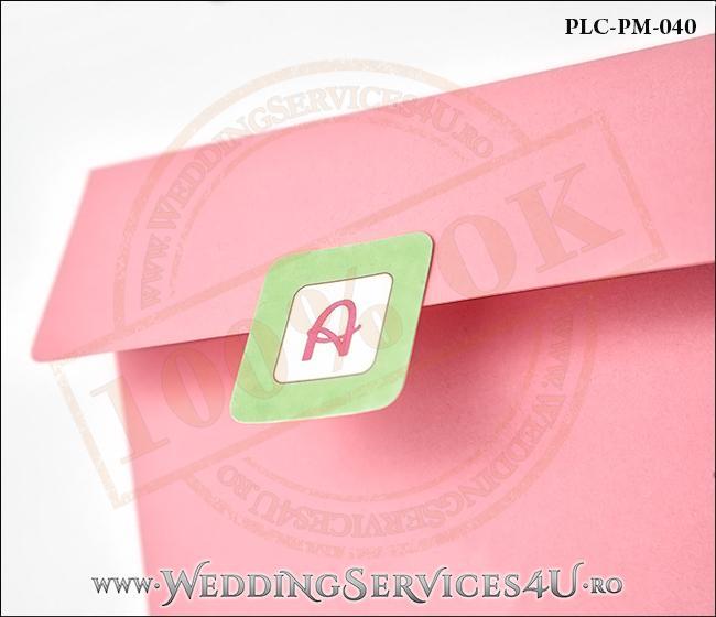 Plic Patrat Invitatie Nunta-Botez PLC-PM-040-2 Roz