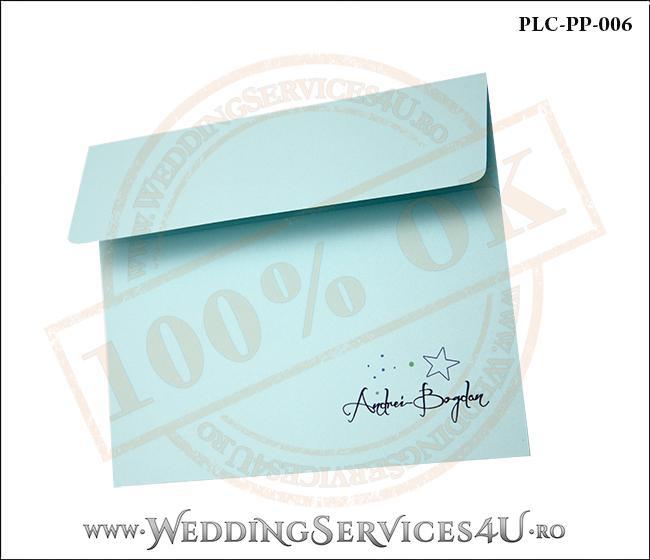 Plic Patrat Invitatie Nunta-Botez PLC-PP-006-2 Bleu