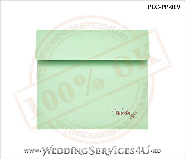 Plic Patrat Invitatie Nunta-Botez PLC-PP-009-1 Verde
