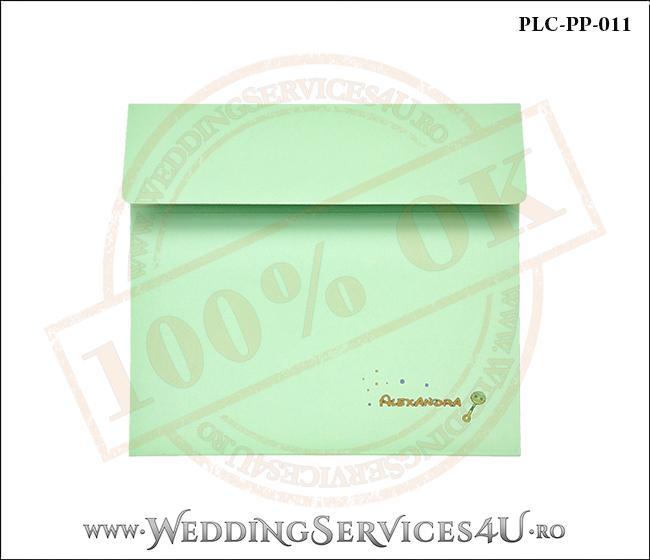 Plic Patrat Invitatie Nunta-Botez PLC-PP-011-1 Verde