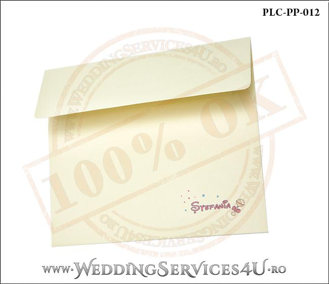Plic Patrat Invitatie Nunta-Botez PLC-PP-012-2 Galben