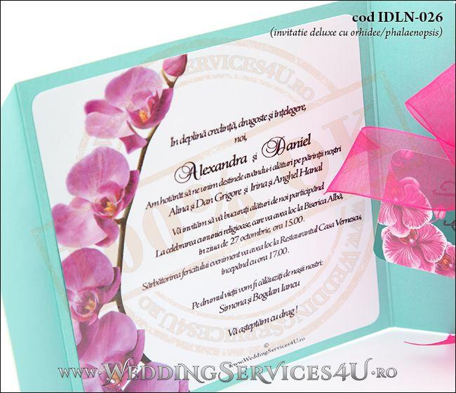 Invitatie_Deluxe_Nunta_Botez_IDLN-026-07_deosebita_cu_flori_de_orhidee