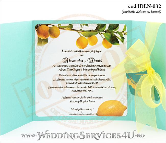 Invitatie_Deluxe_Nunta_Botez_IDLN-032-06turcoaz_cu_crengute_de_lamai