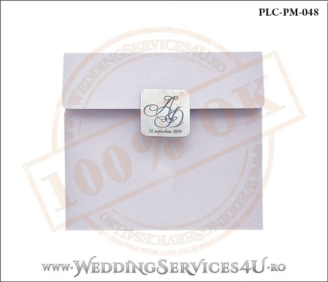 Plic Patrat Invitatie Nunta-Botez PLC-PM-048-01