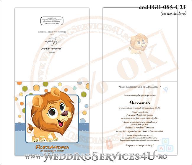 IGB-085-C2F_Invitatie_Botez_cu_pui_de_lei