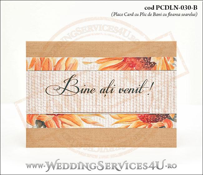 PCDLN-030-B_place_card_rustic_cu_floarea_soarelui_nunta_botez