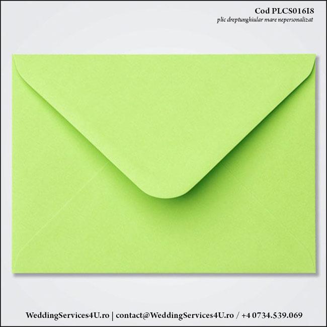 PLCS016i8 Plic Colorat Verde Fistic Crud pentru Invitatie Mare de Nunta Botez