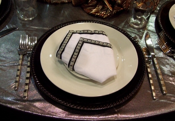 diamond napkin fold