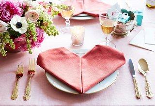 heart napkin fold