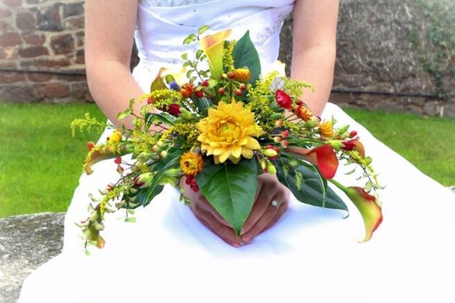 crescent bridal bouquet