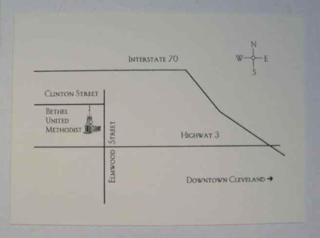 wedding invitation enclosure map