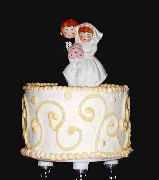 Borrowed Wedding Cake Topper
