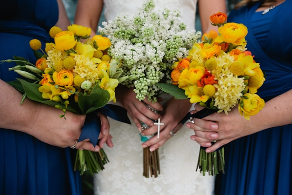 Bride and Bridesmaids bouquets by Sherwood Florist