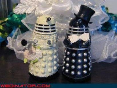 dalek wedding cake toppers