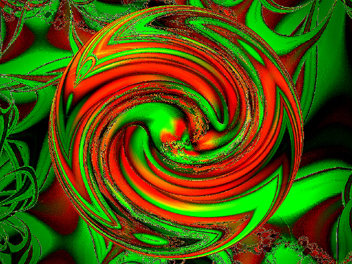 red green swirl