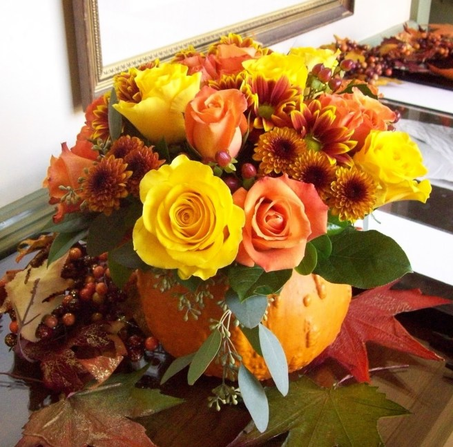 fall theme centerpiece