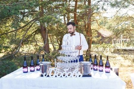 bartender at wedding reception