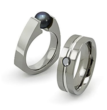 alternative netal wedding rings