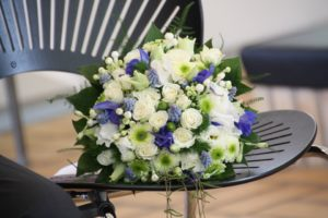 Bridal Bouquet Rose Blue Wedding Bouquet White