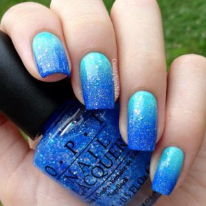 2017 Color Trends - blue nail polish