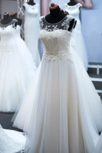2018 Wedding Trends - wedding dress with sheer illusion neckline