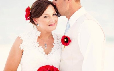 Laura + Eric   Turquoise and Poppy Destination Beach Wedding