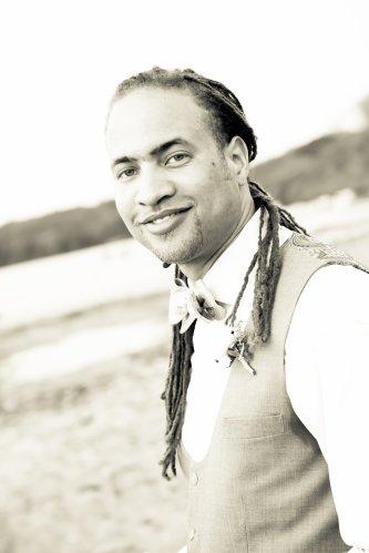 groom on beach
