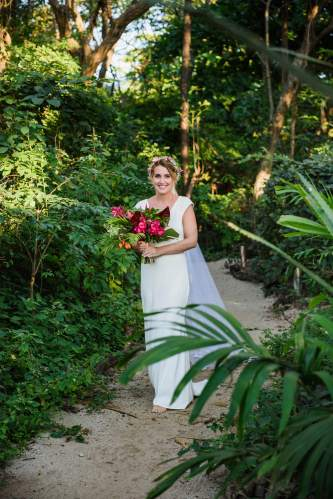 bride tropical wedding