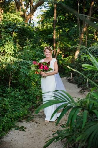 bride tropical wedding