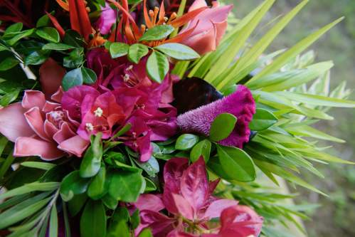 pink tropical bouquet