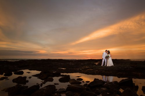 wedding-costa-rica-sunset-lava-rock