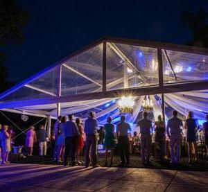 tent rental at Lakeville Weddings