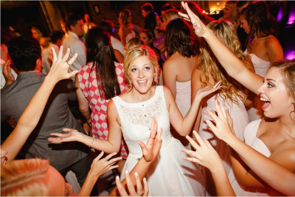 bride wedding reception with delta jamma dj's dance party