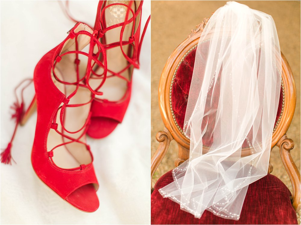 red wedding details to die for